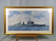 Hms Lion C34 Light Cruiser Oil Painting By Donald Micklethwaite