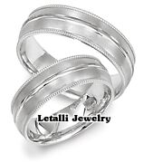 950 Platinum His And Hers Matching Wedding Bands Mens Womens Rings