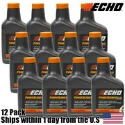 12 Pack Echo Oil 12.8 Oz Bottles 2 Cycle Mix For 5 Gallon - Power Blend 6450005