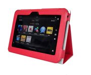 Genuine Leather Stand Pouch Case Cover For Kindle Fire Hd 7 Tablet Rd 04