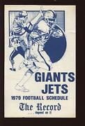 1979 The Record New York Jets And Giants Nfl Football Schedule