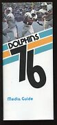 1976 Nfl Football Miami Dolphins Media Guide Exmt+
