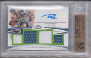 Russell Wilson 2012 Topps Prime Autographed Relics Level V 178/250 Bgs 9.5/au10