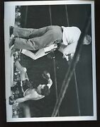 Original March 17 1950 Ref Ruby Goldberg And Willie Pep Boxing Wire Photo
