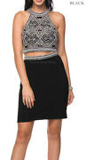 New Short Semi Formal Homecoming Party Dress Two Piece Prom Cocktail Dance Party