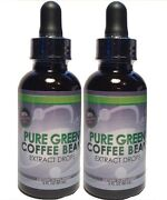 Pure Green Coffee Bean Extract Drops 2-2oz Bottles 4 Total Ounces Supply