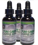 Pure Green Coffee Bean Extract Drops 6 Total Ounces 3 Two Ounce Bottles