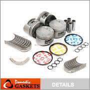 Fit 97-01 Honda Prelude 2.2l H22a4 Dohc Pistons Rings And Bearings Set