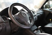 Black Pvc Leather Steering Wheel Stitch Wrap Cover Needle Thread Diy Civic Fit