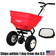 Earthway 2170 Commercial Broadcast 100lb Spreader And 77002 Heavy Duty Rain Cover