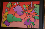 Peter Max Serigraph Very Rare 118/200 Title-from The Beginning -hand Signed