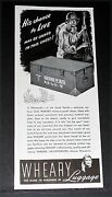 1944 Old Wwii Magazine Print Ad, Wheary Luggage, Military Foot Locker Gi Chests