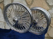 21x3.5 And 18x5.5 Dna Mammoth 52 Spoke Fat Daddy Wheels Harley Softail And Touring