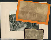 19th C. Deadwood Sd Id'd Original Photo Lot Men And Women Cdv And Cabinet 1887