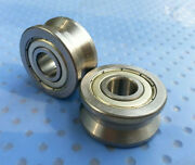 10pcs New V Groove 103014mm Sealed Ball Track Roller Guide Vgroove Bearing
