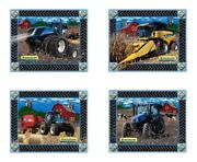 New Holland Combine Tractor And Equipment Barn Placemat Set Of Four - Gift