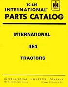 International Harvester 484 Tractor Chassis Parts Catalog Manual Ih