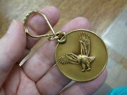 Md-48-b Bald Eagle Bronze Medallion Coin Key Chain Jewelry Ring I Love Eagles