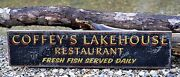 Personalized Lakehouse Restaurant - Rustic Hand Made Vintage Wood Sign