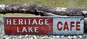 Personalized Cafe Lake House Sign - Rustic Hand Made Vintage Wood Sign