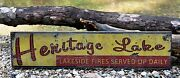 Personalized Lake Campfires Served Up Daily - Rustic Hand Made Vintage Wood Sign