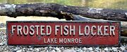 Custom Lake Frosted Fish Locker Kitchen - Rustic Hand Made Vintage Wood Sign