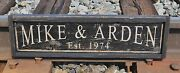 Personalized Established Date Wood Sign - Rustic Hand Made Vintage Wood Sign