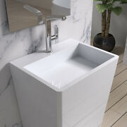 Free Standing Solid Surface Stone Resin Glossy Sink 33 X 17 Inch - Dw-130