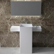 Free Standing Solid Surface Stone Resin Glossy Sink 40 X 19 Inch - Dw-200