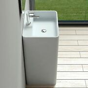 Free Standing Solid Surface Stone Resin Glossy Sink 26 X 20 Inch - Dw-203