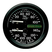 Racetech Oil Pressure And Oil Temperature Dual Mechanical Gauge - Race/rally