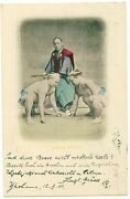 Japanese Sumo Wrestlers 1904 V.rare Postcard Mailed In Germany