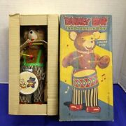 Cragstan Alps 1950 Barney Bear The Drummer Boy Battery Operated Tin Toy Mib