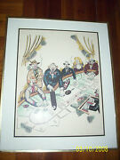 George Crionas Signed Lithograph Rare Baccarat Gambling Art With Coa Back Clowns