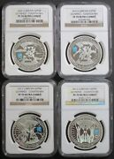 2009- 2012 London Olympic Countdown Silver Piefort Ngc Pf70 4 Coin Special Set