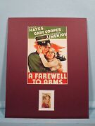 Hemmingwayand039s A Farewell To Arms Starring Gary Cooper And Helen Hayes And Her Stamp