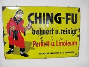 German Enamel Advertising Sign For Ching Fu C1920and039s