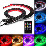 8 Color Led Neon Light Strips Underbody Undercar Kit Wireless Rc + Sound Active