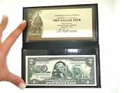 New Unc 2003a 2 Two Dollar Colorized Texas State Landmarks Currency Note