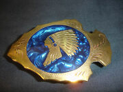 Johnson And Held Gold And Silver Toned Indian Chief Arrowhead Belt Buckle