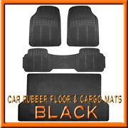 Fits 3pc Ford Escape Black Rubber Floor Mats And 1pc Cargo Trunk Liner Mat