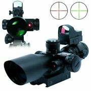 2.5-10x40 Rifle Scope With Red Laser And Mini Reflex 3 Moa Red Dot Sight