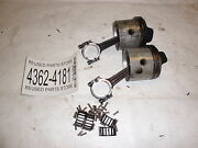 1960 Johnson 40hp Rdsl22c Outboard Motor Pistons And Connecting Rods
