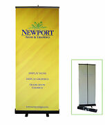 33 W X 78 H Retractable Banner Stand With Custom Banner Image