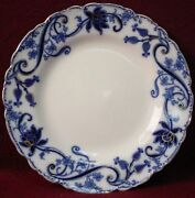Johnson Brothers China Andorra Flow Blue Luncheon Plate 8-7/8