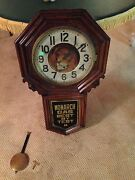 1900and039s Custom Made Monarch Gas Corporate Clock By New Haven Companywatch Video