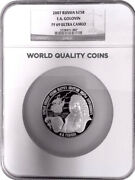 2007 Russia 25 Ruble Rouble Russian Silver Proof 5 Oz Golovin Ngc Pf69 Mint-1500