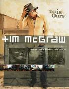 Tim Mcgraw Country Music Album Bio Dancehall Doctors This Is Ours 1st Ed Hc 2002