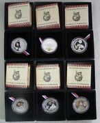 2011 Silver Liberia 5 Russian Kremlin Series 6 Coin Set In Boxes And Coa