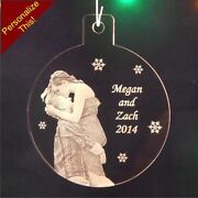 Personalized Photograph Christmas Ornament Holiday Photo Ornament Custom 1/4